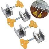 FidgetFidget Adjustable Sliding Window Locks Door Frame Security Locks With Key 4 Pcs US
