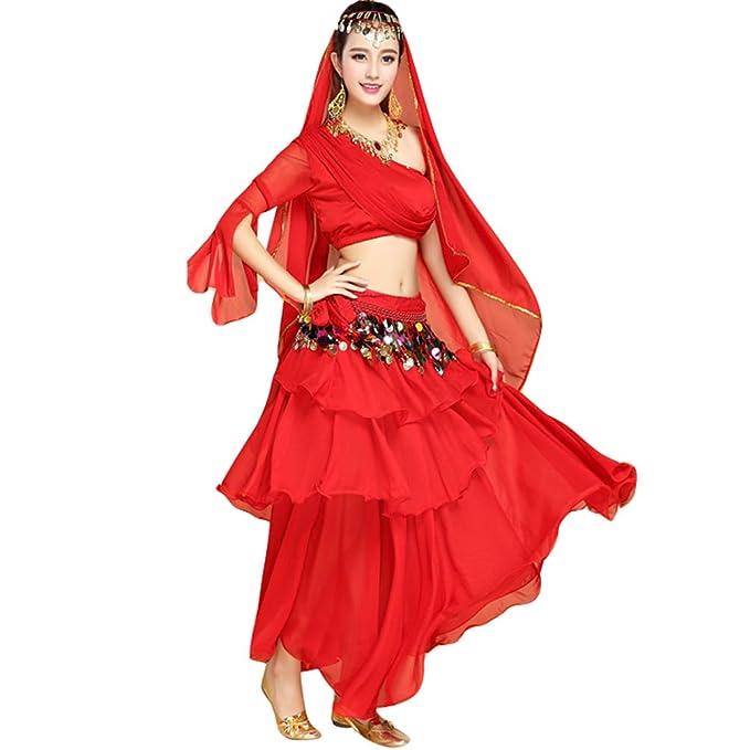TianBin Mujer Un Hombro Crop Tops Camisola y Swing Maxi ...