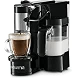Gourmia GCM5500 - 1 Touch Automatic Espresso Cappuccino & Latte Maker Coffee Machine - Brew, Froth Milk, and Mix Into Cup with the Push of One Button - Nespresso Compatible