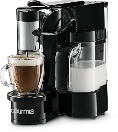 Gourmia GCM5500 – One Touch Automatic Espresso Cappuccino & Latte Maker Coffee Machine – Brew, Froth Milk, and Mix Into Cup with the Push of One Button- Nespresso Compatible