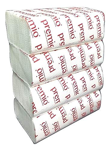 Premio Brand M Fold Paper Towel Napkins for Home and Business, 500 Sheets, 8″ x 8.5″, 35 gsm thickness, Premium Absorbent Serviettes Price & Reviews