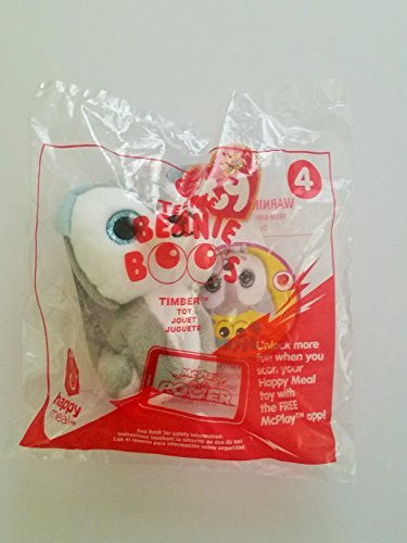 McDonald's Teenie Beanies Boo's 2017 # 4 Timber Grey Wolf TY Happy Meal Toy