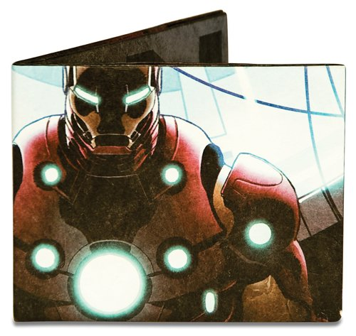 Dynomighty Men's Iron Man Mighty Wallet, Red/Blue/Black/White, One Size