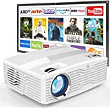 [Full HD Native 1080P Projector with 100Inch Projector Screen] 7500Lumens LCD Projector Full HD Projector Max 300 inch Display  Compatible with TV Stick  HDMI  AV VGA  PS4  Smartphone for Outdoor Movies