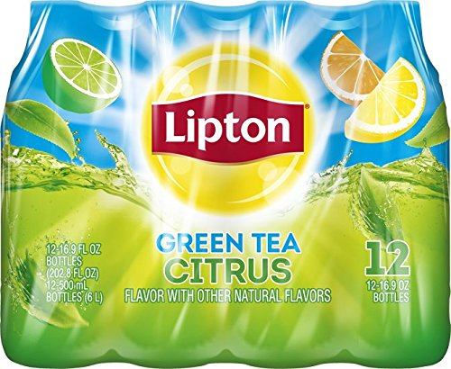 Lipton Green Tea, Citrus (12 Count, 16.9 Fl Oz Each)