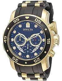 Men's 6981 Pro Diver Analog Swiss Chronograph Black Polyurethane Watch