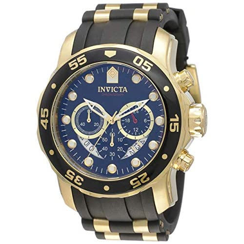 526909834ab0 Invicta Men  039 s 6981 Pro Diver Analog Swiss Chronograph Black  Polyurethane Watch