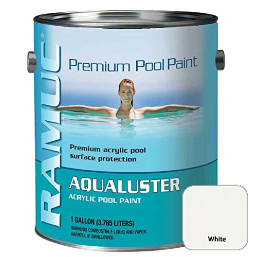 RAMUC AQ301101 Aqualuster Acrylic Pool Coating - Brilliant White - 1 Gallon