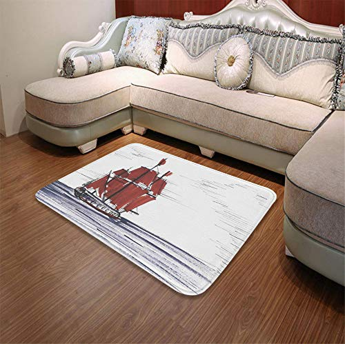 (YOLIYANA Bath Mat,Sketchy,for Dining Room Bathroom Office,55.12