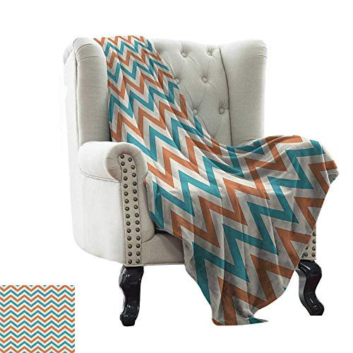 Geometric Decor Collection,Lightweight Blanket Chevron Pattern Anniversary Celebration Herringbone Style Historic Timeless Artwork 70