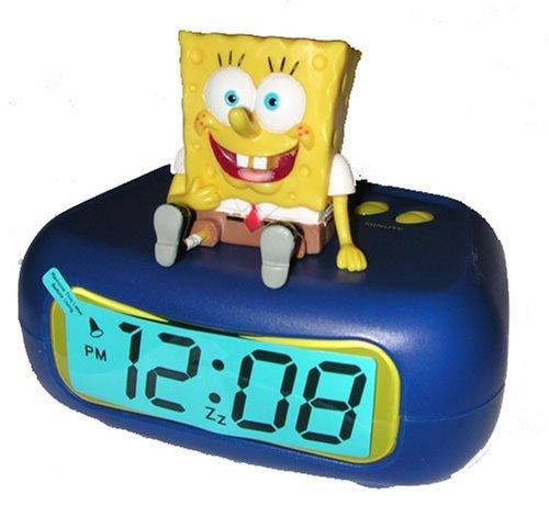 Nickelodeon Spongebob Squarepants LED Alarm Clock