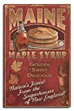 Lantern Press Maine - Maple Syrup Vintage Sign (10x15 Wood Wall Sign, Wall Decor Ready to Hang)