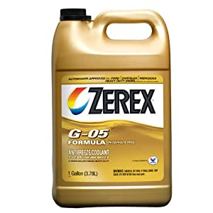 Zerex G-05 Antifreeze/Coolant, Concentrated - 1gal (Case of 6) (ZXG051-6PK)