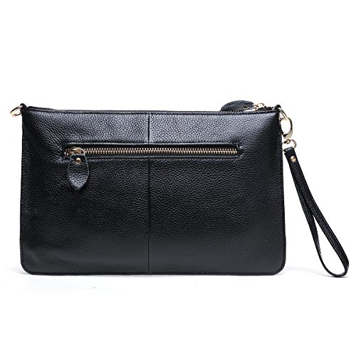 Walk Arrive Genuine Leather Clutch Purse Clutch Wallet Clutch Handbag Clutch Shoulder Crossbody Bag by Walk Arrive