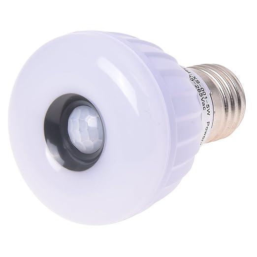 Sonline E27 25 LED 3528 SMD de la luz blanca de la lampara de infrarrojos PIR