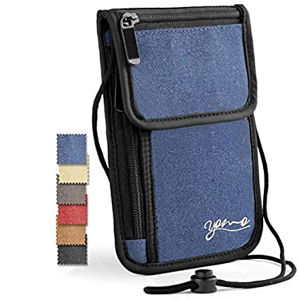 Amazon.com: Titular de pasaporte, por YOMO. RFID seguro ...