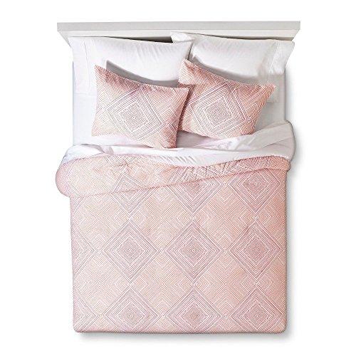 Room Essentials Diamond Printed Comforter - Coral (Twin XL) 16543975