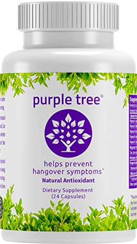 Purple Tree Hangover Cure & Prevention Pills | Dihydromyricetin (DHM), N-Acetyl L-Cysteine (NAC), Willow Bark, Vitamin B | Promote Liver Health | Made in California