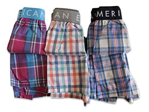 American Eagle Men's 3 Individual Pairs Boxer Shorts (Medium 32-34