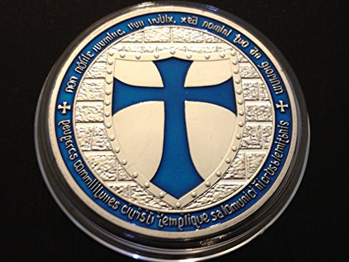 Knights Templar Crusaders Blue Cross & Shield Coin ()