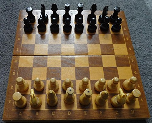 VINTAGE old SOVIET VINTAGE old SOVIET UNION USSR RUSSIAN plastic game Chess set wooden board