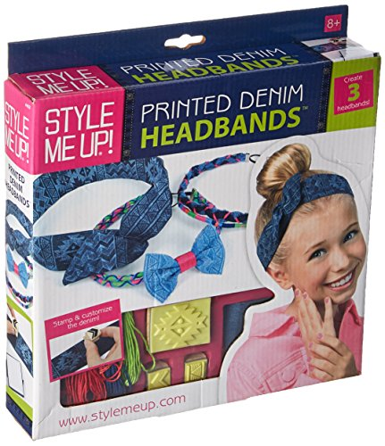 Style Me Up - DIY Denim Headbands for Girls - Make Your Own Hairbands Kit for Kids - Hair Accessories for Girls - SMU-452