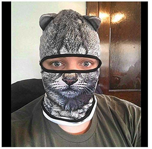 Outgeek Cat Mask, Women Men Balaclava Summer Full Face Hat Animal Ears Sports Helmet Climbing Fishing Cap by Outgeek (Image #3)