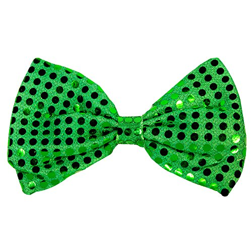 - Green Sequin Bow Tie