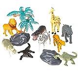 Oasis Supply Safari, Jungle Animal PlaySet Cake Topper Kit #1-12 pcs