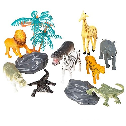 Oasis Supply Safari, Jungle Animal PlaySet Cake Topper Kit #1-12 -