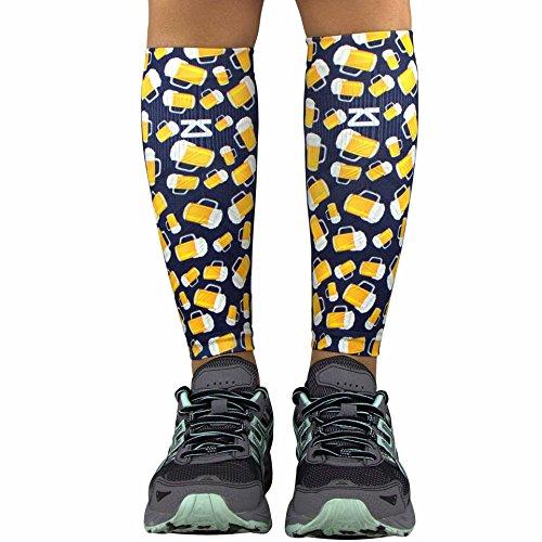 Zensah Compression Leg Sleeves – Helps Shin Splints, Leg Sleeves for Running (Large/X-Large, Beer ()