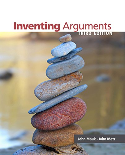 Mauk/Metz's Inventing Arguments, 3rd Edition plus 4-months instant access to Cengage Learning Write Experience 2.0 Powered by MyAccess. Pdf