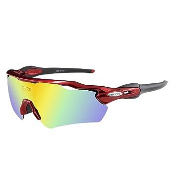 Duco polarizado Deportes Mens Gafas de Sol para esquí de conducción Golf Running Ciclismo Tr90 Superlight