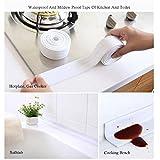 Bath and Wall Self Adhesive Caulk Strip, Pawaca Kitchen Waterproof Mildewproof Caulk Tape Bathroom Wall Sealing Tape