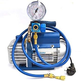 Bomba de vacío + de aire + el manómetro R410A R407C R134A R22 aire acondicionado: Amazon.es: Amazon.es