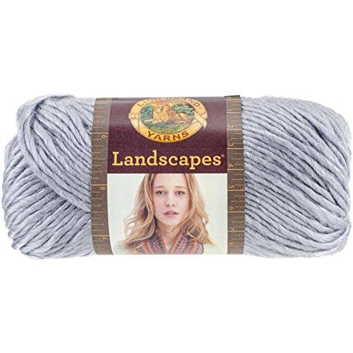 (Lion Brand Yarn 545-150 Landscapes Yarn, Silver)
