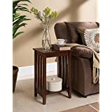 Kings Brand Walnut Finish Wood Chair Side Accent End Table