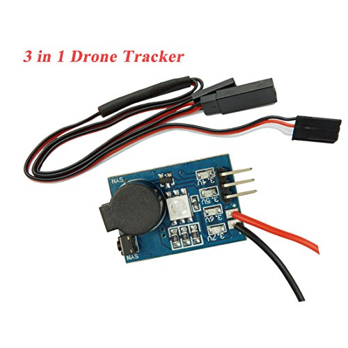 DLFPV 3 in 1 Quadcopter Lost Plane Tracker Battery Low Voltage Checker Signal Loss Alarm for RC Drone Quadcopter