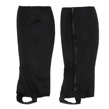 Baoblaze 1 Paar Reitgamaschen Beinschut mit Rei/ßverschluss f/ür Erwachsene schwarz