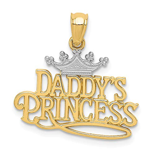 14k Yellow Gold Daddys Princess Pendant Charm Necklace Fine Jewelry Gifts For Women For Her