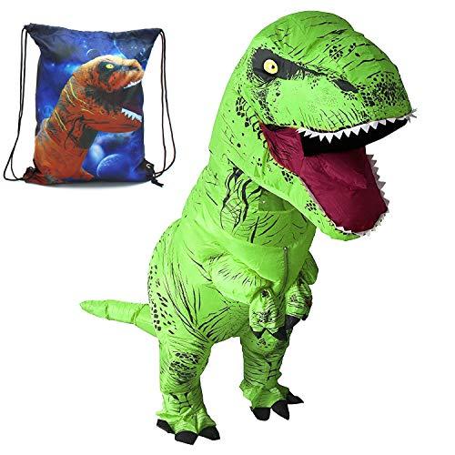 HEYMA T-Rex Costume Inflatable Dinosaur Costume for Adult Halloween Inflatable Costume