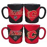Memory Company NHL Calgary Flames Chevron Salt & Pepper Shaker Mugs, One Size, Multicolor