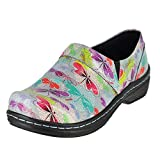 Klogs Usa Mission Spring Dragonfly Patent Womens Clog Style Size 6M