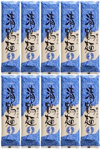あらい屋製麺 清鶴麺 細 うどん 250g x 10袋 ( 1箱 )