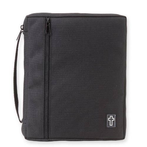 Black Bible Cover with Rubber Cross Patch (XXL) by Gregg Gift hot sale