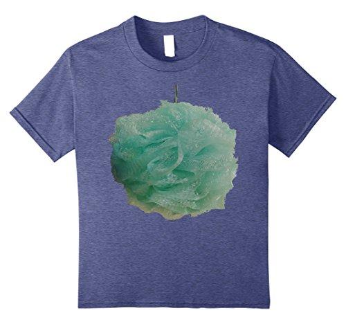 Bubble Bath Halloween Costumes (Kids Loofah Bath Shower Sponge Costume T-Shirt 8 Heather Blue)