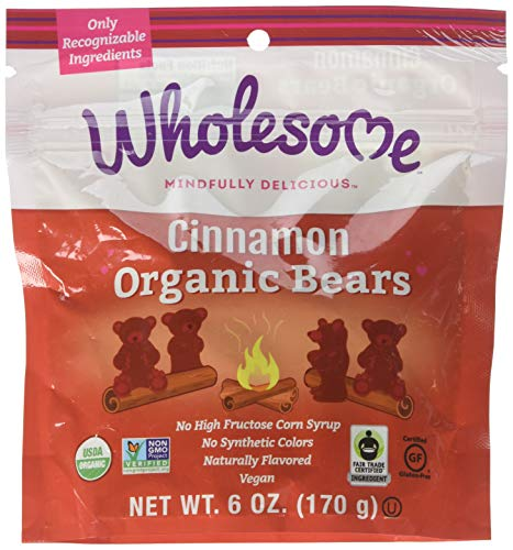 - Wholesome! Organic Cinnamon Bears Gluten Free Vegan Candy