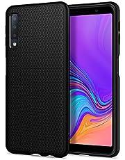 Spigen Liquid Air, Cover Galaxy A7 2018 - Custodia Protettiva in TPU per Galaxy A7 2018, Massima Protezione da Cadute e Urti, Nero