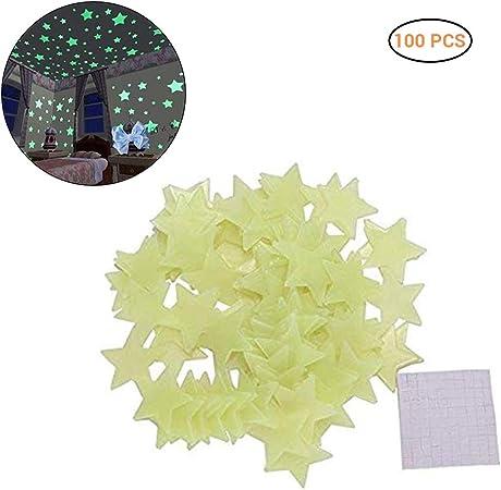Leuchtende Sterne Wanddeko Leuchtkraft f/ürs Kinderzimmer Selbstklebend und Fluoreszierend Leuchtaufkleber im Dunkeln Leuchtend 100St/ück 3cm Leuchtsterne//Leuchtpunkte f/ür Deinen Sternenhimmel