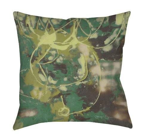 Entwined Emerald 14-Inch Manual Woodworkers /& Weavers Square Throw Pillow